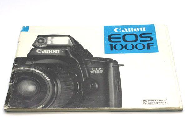 manual instrucciones canon eos 1000f espa ol reflex ocasion rh reflex ocasion com es canon eos 1000fn manual canon eos 1000f manual pdf