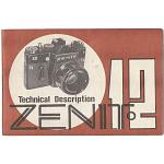 Manual de instrucciones Zenit 12. Ingles